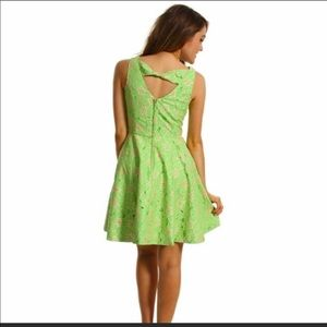 Lilly Pulitzer Freja green/pink embroidered dress